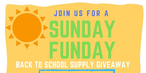 Sunday Funday, Back to School Supply Giveaway