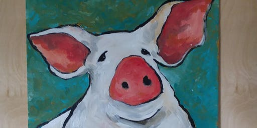 Petunia, the Sweet Little Pig - Paint Party