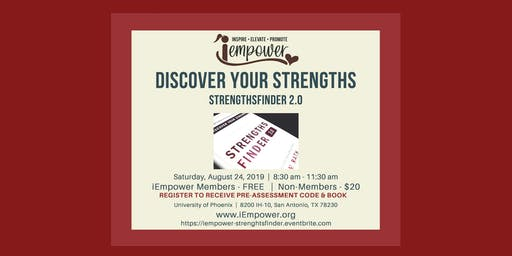 iEmpower Workshop:  DISCOVER YOUR STRENGTHS - StrengthsFinder 2.0