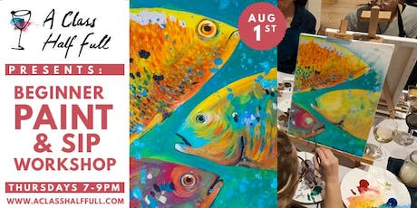 """AUG 1 """"Something Fishy"""" Paint and Sip - A Class Half Full tickets"""