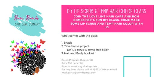 The Love Bomb- DIY Lip and Temporary Hair Color: For kids