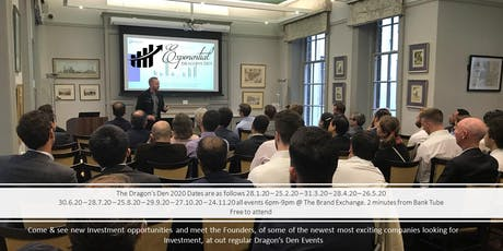 Exponential Dragon's Den & Investment Pitch Event April tickets