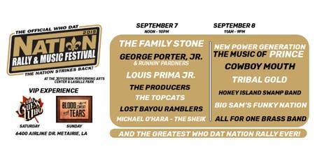 The Official Who Dat Nation Rally & Music Festival tickets