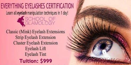 Orlando, Everything Eyelashes Certification by School of Glamology tickets