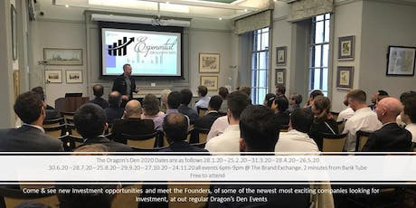 Exponential Dragon's Den & Investment Pitch Event June  tickets