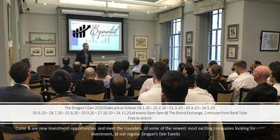 Exponential Dragon's Den & Investment Pitch Event August