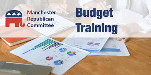 Municipal Budget Training