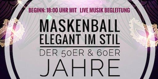 """Silvester-Maskenball """"Elegant im Stil der 50er & 60er Jahre"""" mit Live - DJ"""