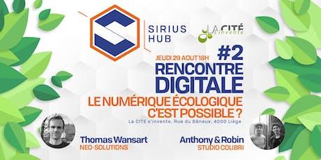 Rencontre Digitale #2 : Le numérique écologique c'est possible ? billets