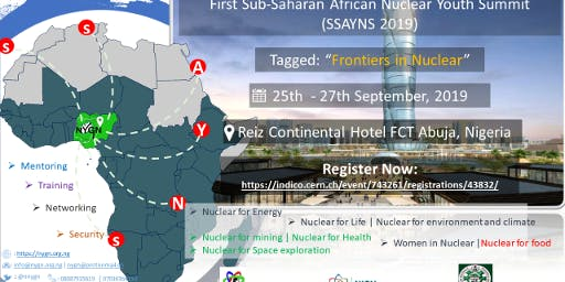 "First Sub-Saharan Africa Youth Nuclear Summit - ""Frontiers in Nuclear"""