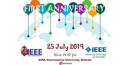 Celebrating the 1st anniversary of launching IEEE AMAIUB STB01006 tickets