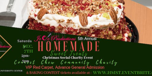 5th Annual Homemade Sweet Treats Social Charity Event