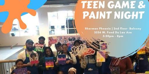 Teen Game & Paint Night