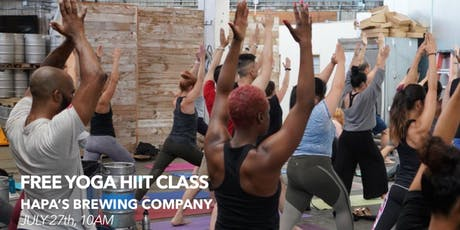 Free Yoga HIIT Class at Hapa's Brewing Company tickets
