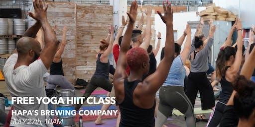 Free Yoga HIIT Class at Hapa's Brewing Company