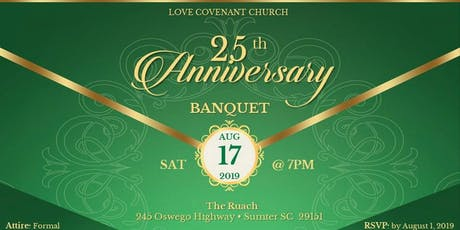 LCC's 25th Anniversary Banquet tickets