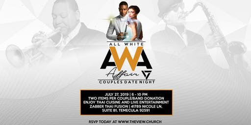 All White Attire Afair: Couples Date Night