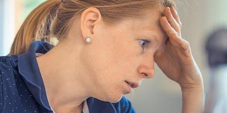Charla: ¿Qué hacer cuando tu mente y el estrés te controlan? tickets