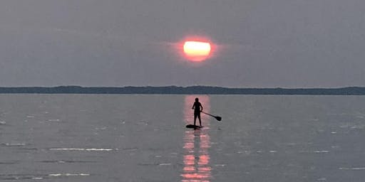 SUP Sunset Yoga on Old Mission Peninsula