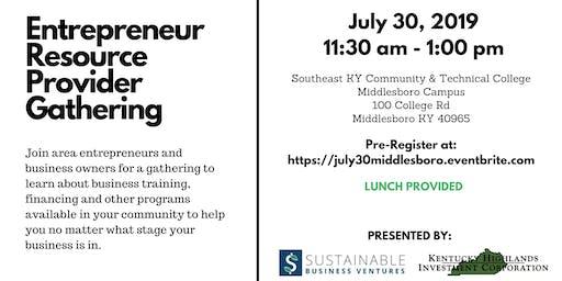 Entrepreneur Resource Provider Gathering - Middlesboro
