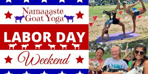 Beach Goat Yoga Labor Day Weekend: Namaaaste Goat Yoga 10am