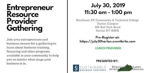 Entrepreneur Resource Provider Gathering - Harlan