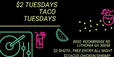 $2 TACOS AND TEQUILA brought to u by Glow Bar ATL!!!!