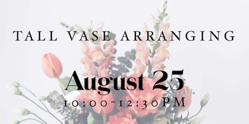 Tall Vase Arranging Workshop
