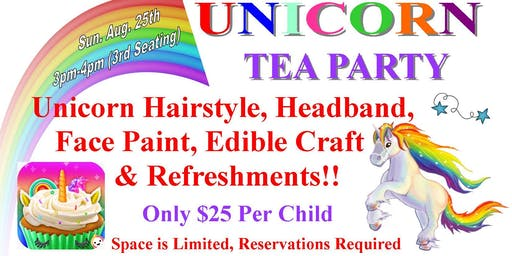 Unicorn Tea Party- 3rd Seating-SOLD OUT