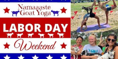 Beach Goat Yoga Labor Day Weekend: Namaaaste Goat Yoga 9am tickets