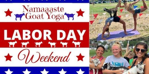 Beach Goat Yoga Labor Day Weekend: Namaaaste Goat Yoga 9am