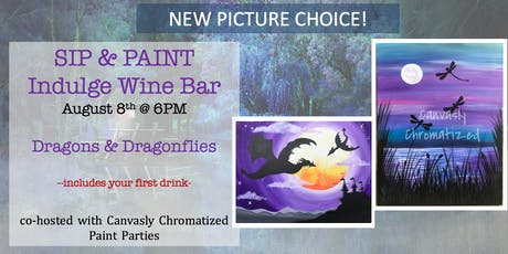Dragons & Dragonflies: Sip & Paint @ Indulge tickets