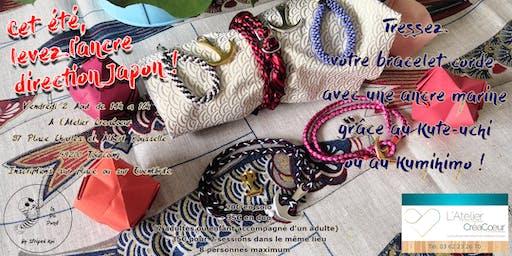 Tressez votre bracelet corde grâce au  Kute-Uchi et au Kumihimo.