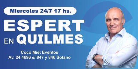 Jose Luis Espert en Quilmes entradas