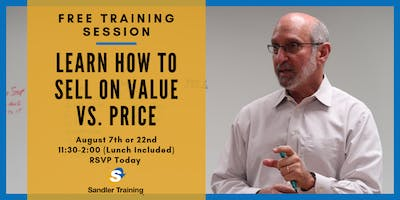 Selling on Value vs. Price Complimentary Training