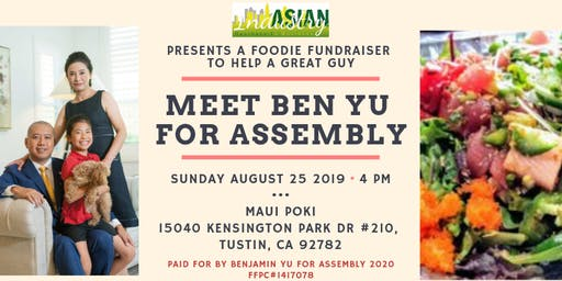 AIB2B Presents A Foodie Fundraiser - Benjamin Yu for Assembly
