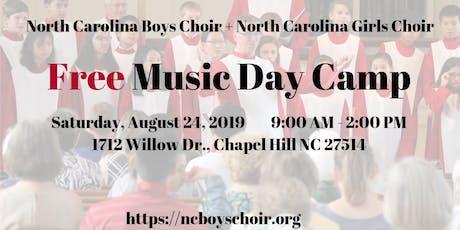Free Music Day Camp with North Carolina Boys Choir and Girls Choir tickets