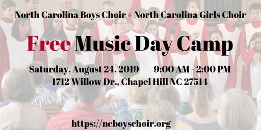 Free Music Day Camp with North Carolina Boys Choir and Girls Choir