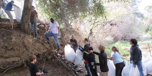 SB Clean Creeks TEAM 222 Cleanup - Notting Hill Drive on Coyote Creek