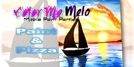 """PAINT & PIZZA! in Burbank, CA """"Sunset Sails"""" tickets"""