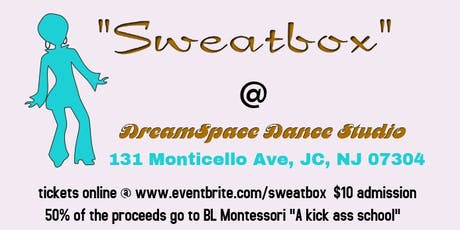 """""""Sweatbox"""" is Ward F's own Sunday afternoon dance party for adults. tickets"""