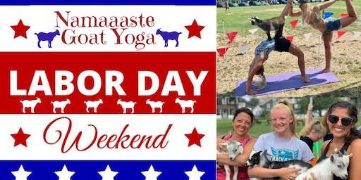Beach Goat Yoga Labor Day Weekend: Namaaaste Goat Yoga 12pm