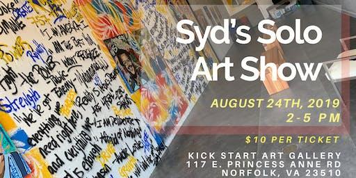 Syd's Solo Art Show