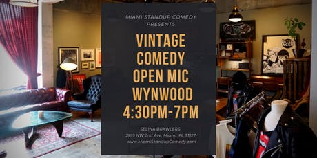 Wynwood Standup Comedy Open Mic Saturday's at Selina Brawlers tickets