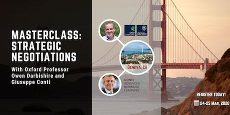 Masterclass: Strategic Negotiations- Two Day Event tickets