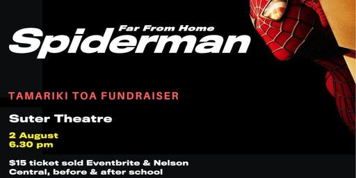 Far from Home SPIDERMAN movie fundraiser