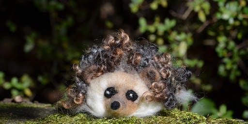 Needle felt your own hedgehog