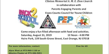 Clinton Memoir A. M. E  Zion Church ,ECCYC & PEP Backpack & School Supplies tickets