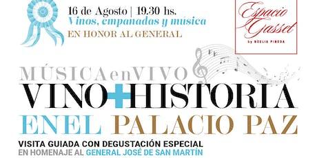 Haciendo patria : historia, vino , empanadas y música en vivo. entradas