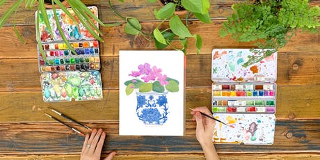 Learn Watercolor through Painting Potted Plant Portraits tickets